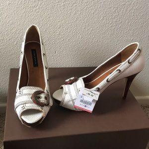 Zara pure leather peep toe shoes
